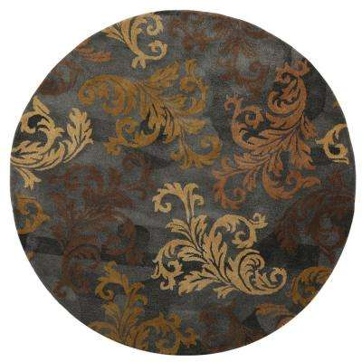 Symphony Charcoal 6 ft. x 6 ft. Round Area Rug