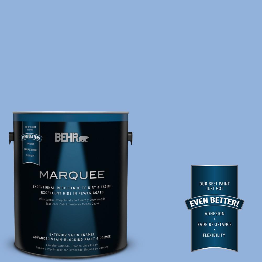 BEHR MARQUEE 1-gal. #PPU15-12 Bluebird Satin Enamel Exterior Paint