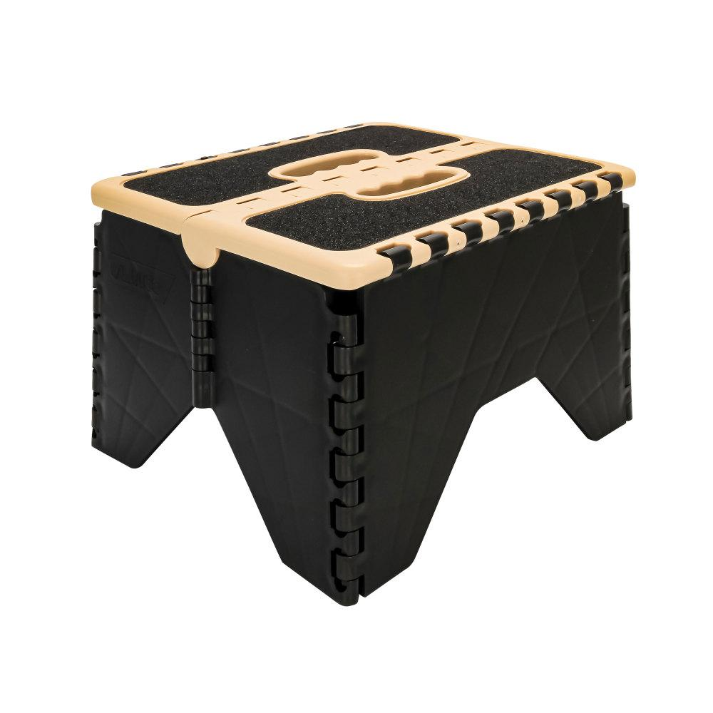 Awesome Camco Plastic Folding Step Stool With Non Skid Black Khaki Alphanode Cool Chair Designs And Ideas Alphanodeonline