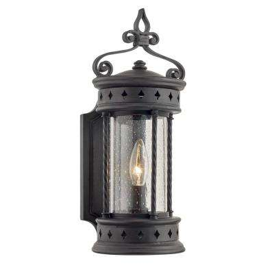 Valencia 1-Light Old Bronze Outdoor Wall Mount Lantern