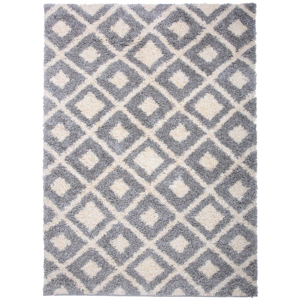 World Rug Gallery Contemporary Trellis Diamond Soft Plush