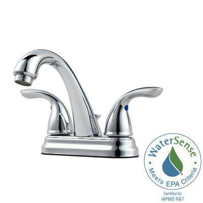 Pfirst Series 4 in. Centerset 2-Handle Bathroom Faucet with Hi-Arc Spout in Polished Chrome