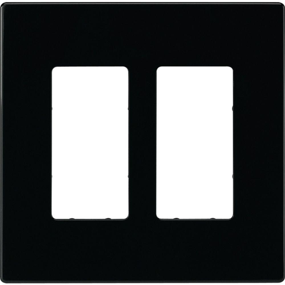 2 switch decorator duplex nylon wall plate
