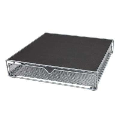 Black Mesh Steel Coffee Pod Storage Drawer