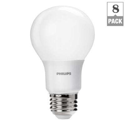 60W Equivalent Soft White A19 Dimmable LED Household Light Bulb (8-Pack)