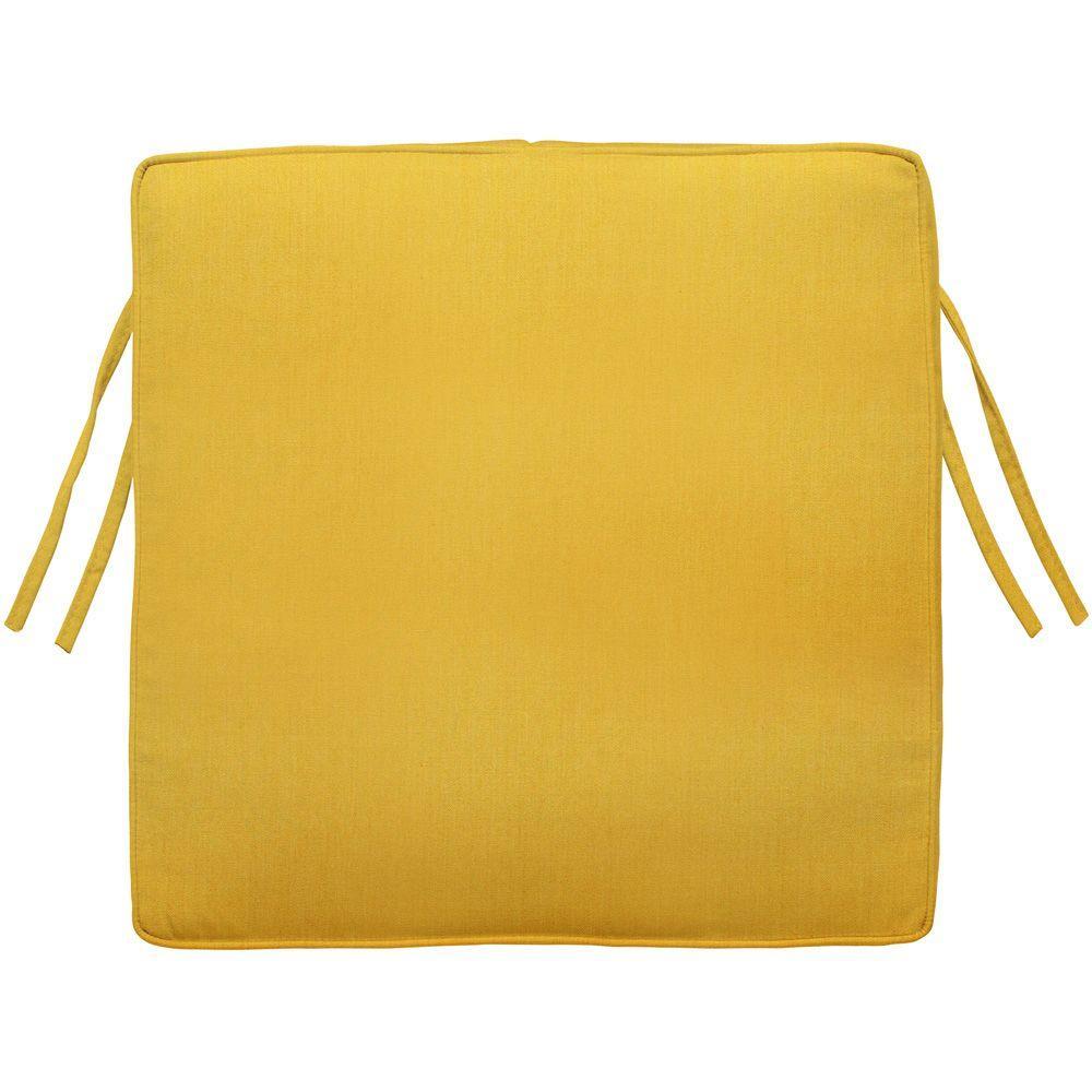 Home Decorators Collection Sunbrella Daffodil Square Outdoor Seat Cushion