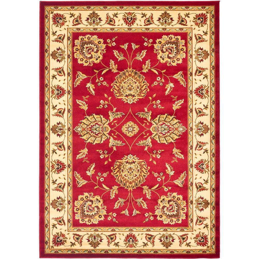 Safavieh Lyndhurst Red/Ivory 5 ft. x 8 ft. Area Rug