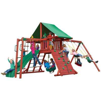 Sun Valley II Wooden Swing Set with Monkey Bars