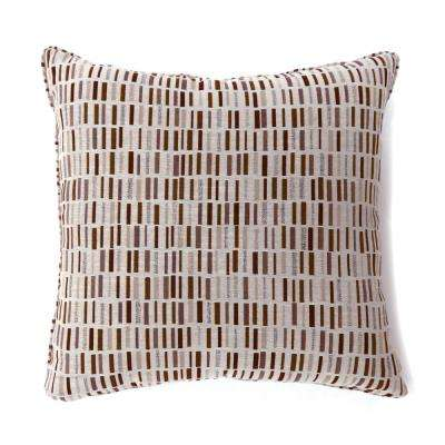 Pianno 18 in. Contemporary Throw Pillow in Brown (Pack of 2)