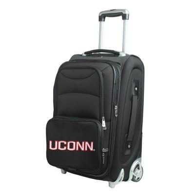 Denco NCAA Connecticut 21 in. Black Carry-On Rolling Softside Suitcase