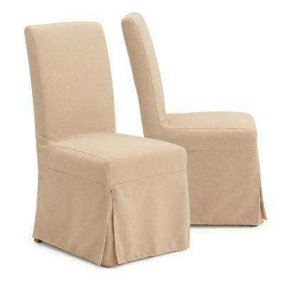 Astrid Beige Slipcover Armless Dining Chairs (Set of 2)