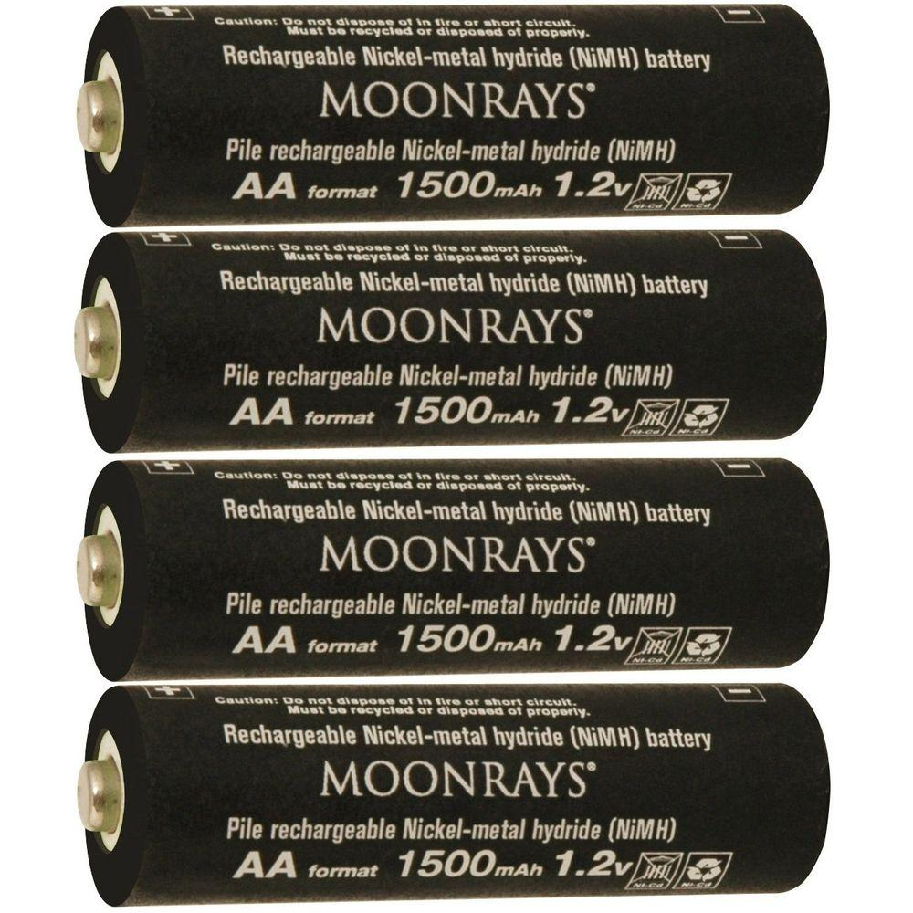Moonrays rechargeable 1500 mah nimh aa batteries for solar powered moonrays rechargeable 1500 mah nimh aa batteries for solar powered units 4 pack aloadofball Image collections