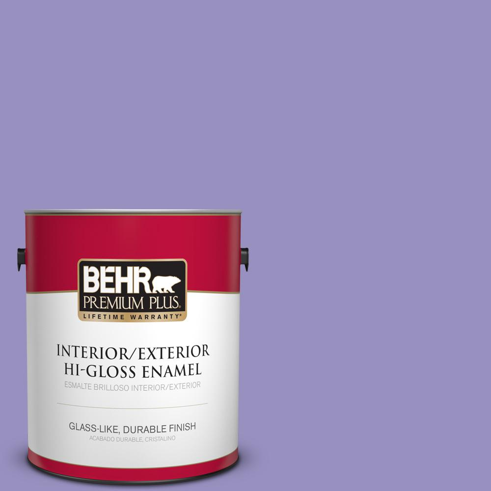 1 gal. #PPU16-05 Lily of the Nile Hi-Gloss Enamel Interior/Exterior Paint