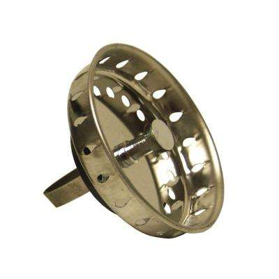 Replacement Strainer Basket with Spring Clip, Stainless Steel