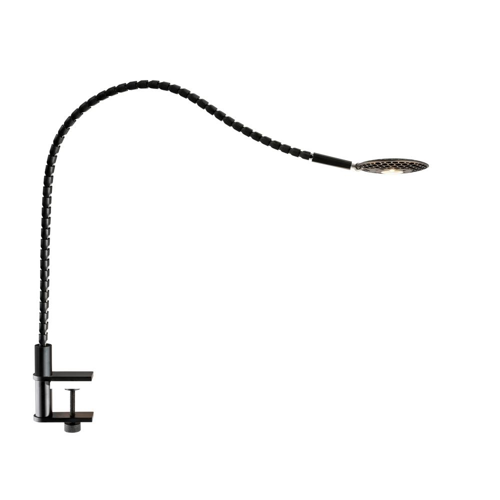 ADS360 Natrix 26.5 in. Integrated LED Black Clamp Lamp