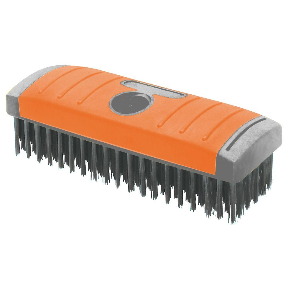 Hdx 6 Row X 19 Row Carbon Block Wire Brush Sb619 Hdx The Home Depot
