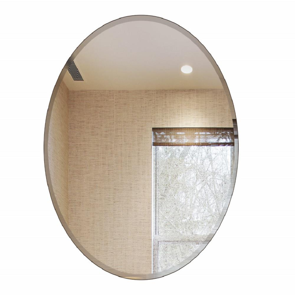Fab Glass And Mirror 22 In. X 30 In. Oval Beveled Polish Frameless Wall  Mirror With Hooks 799456351803   The Home Depot
