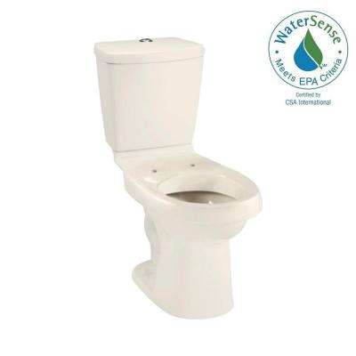 Karsten 2-piece 0.8 or 1.6 GPF Dual Flush Elongated Toilet in Biscuit