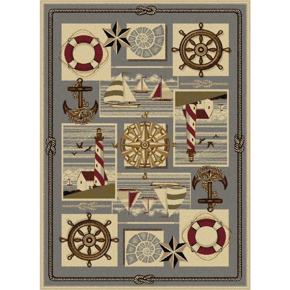 Lodge Ivory 7 ft. 10 in. x 10 ft. 3 in.