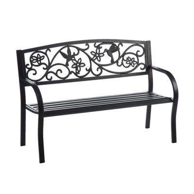 50 in. Humming Bird Metal Outdoor Bench