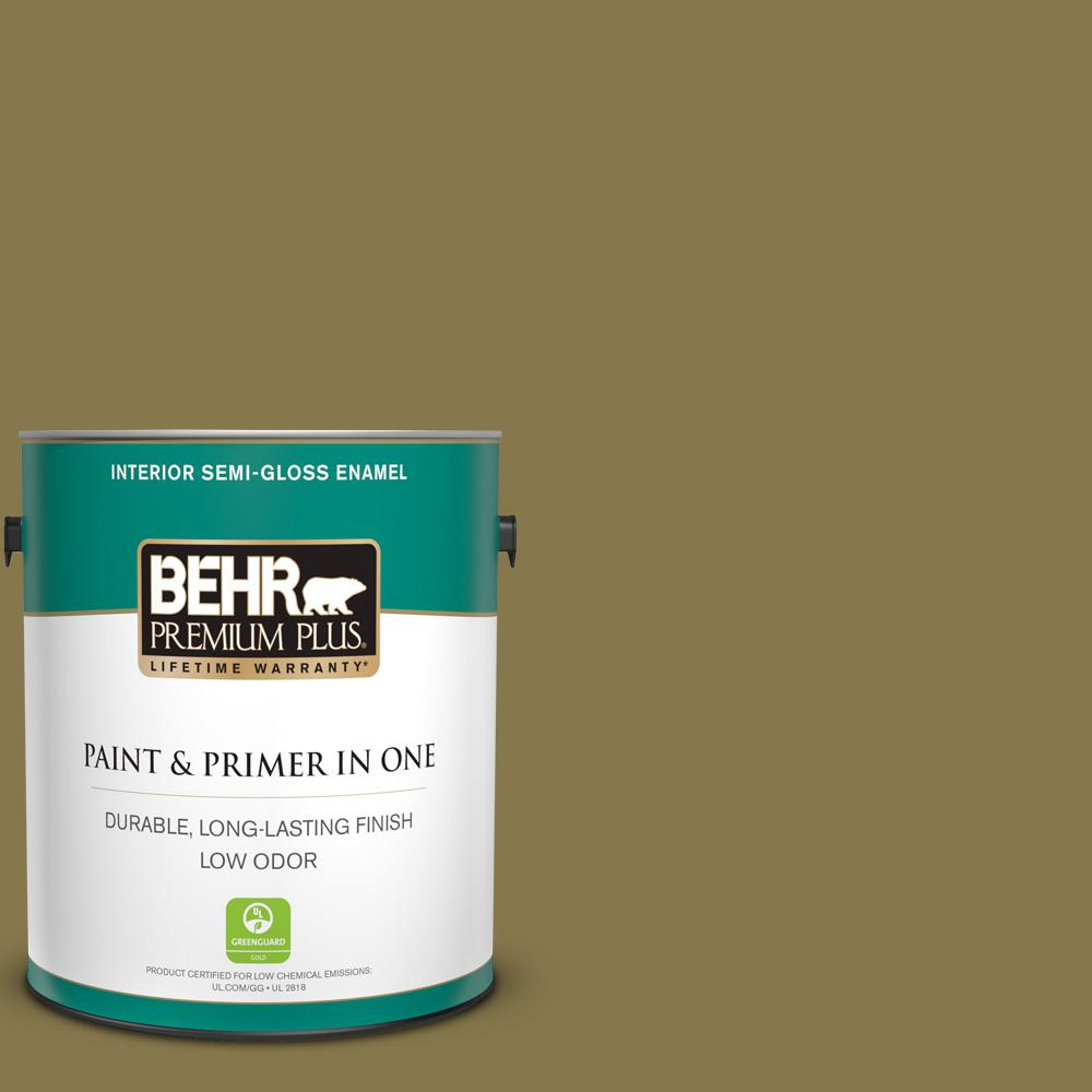Behr Premium Plus 1 Gal M330 7 Green Tea Leaf Semi Gloss