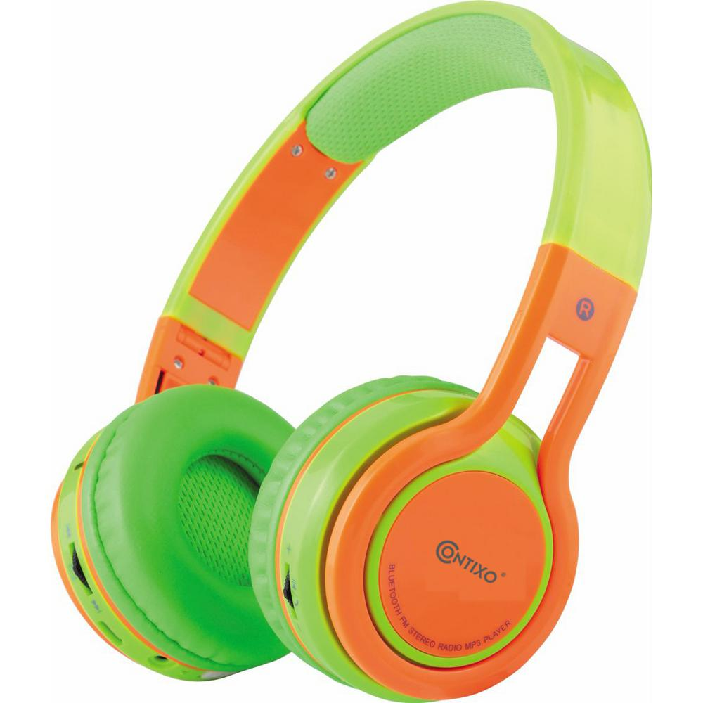 Kid-Safe Over-the-Ear Volume-Limiting Bluetooth Wireless Folding Headphones