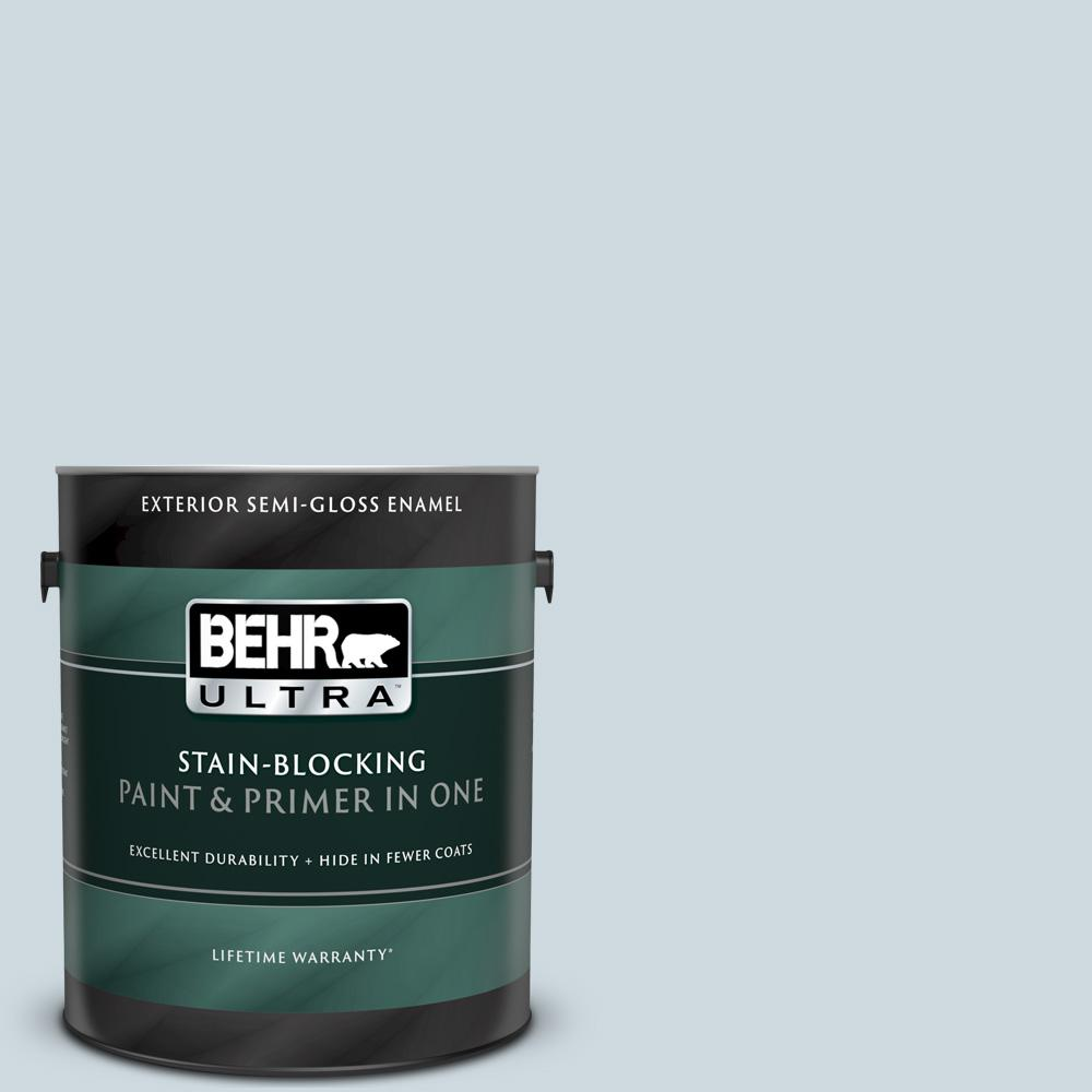 Behr Ultra 1 Gal 560e 2 Cumberland Fog Semi Gloss Enamel Exterior Paint And Primer In One 585001 The Home Depot