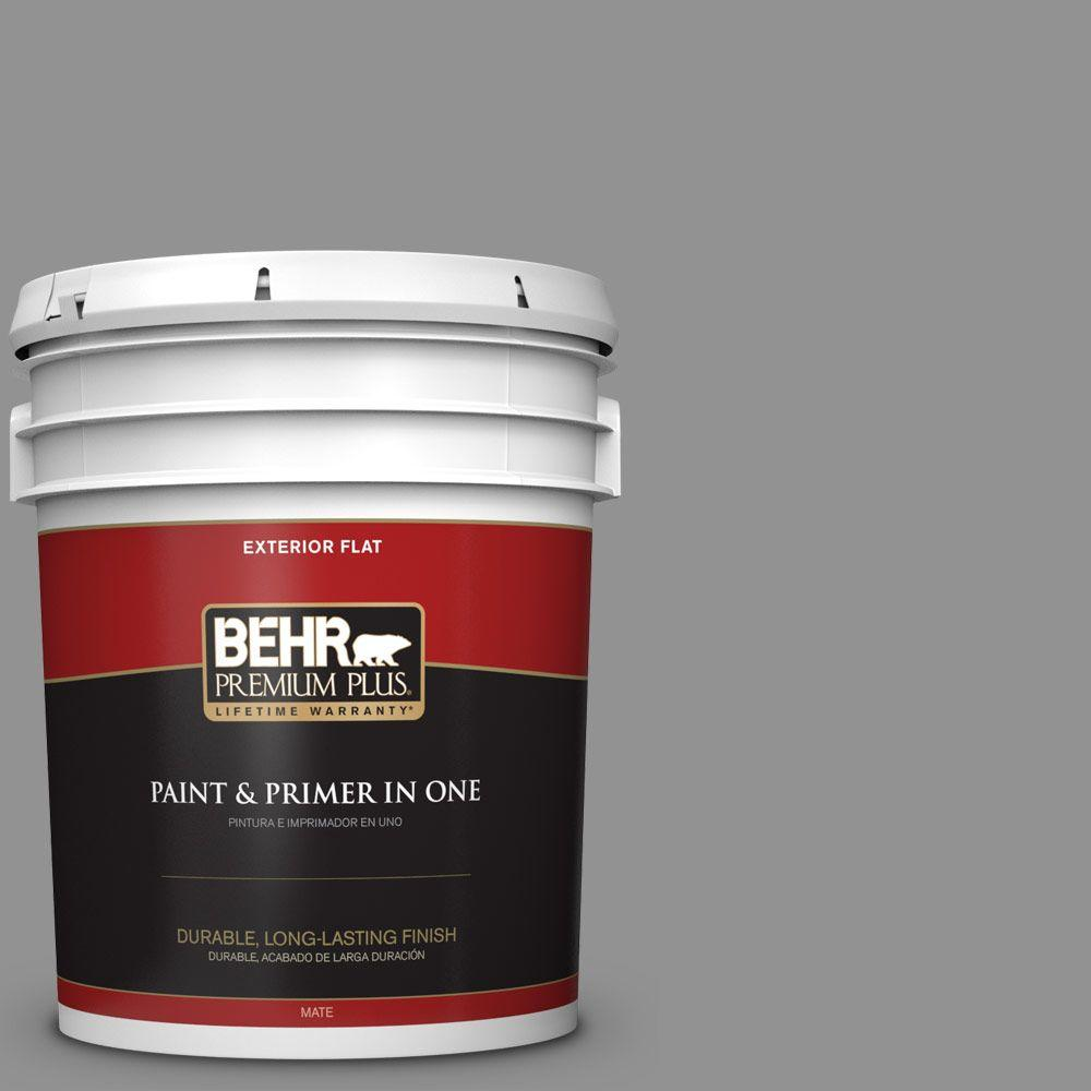 5-gal. #N520-4 Cool Ashes Flat Exterior Paint