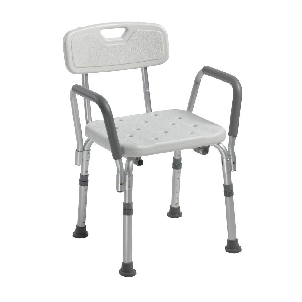 Knock Down Bath Bench with Back and Padded Arms  sc 1 st  Home Depot & Shower Chairs u0026 Stools - Shower Accessories - The Home Depot