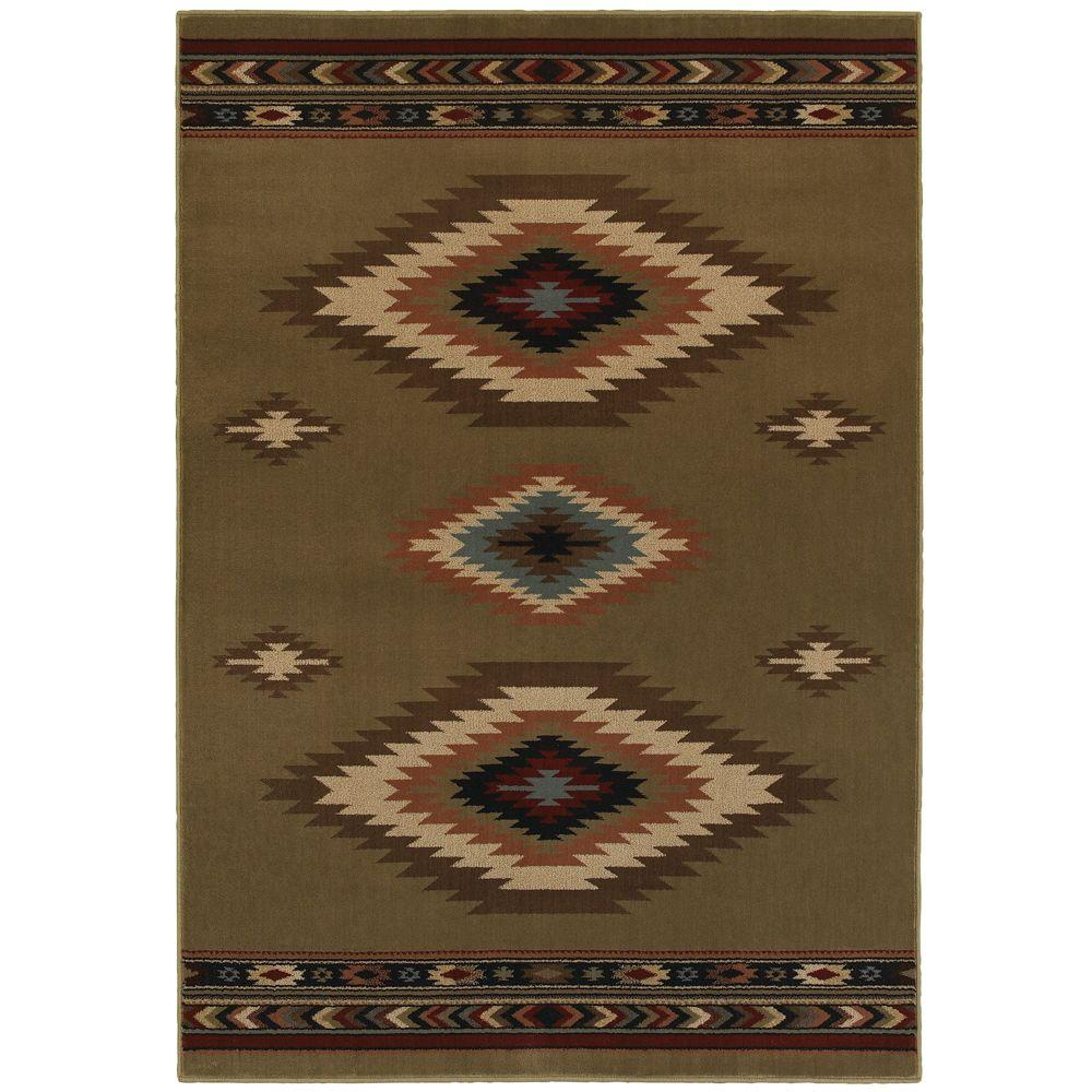 Home decorators collection aztec green 5 ft 3 in x 7 ft for Home decorations collections catalog