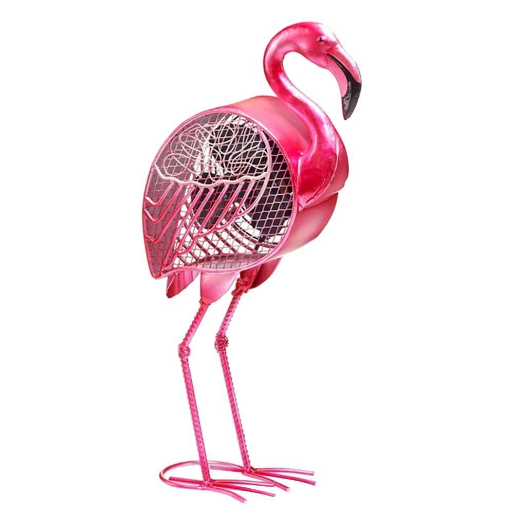19.25 in. Flamingo Figurine Fan