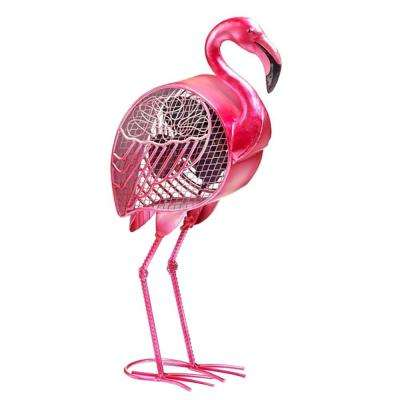 19.25 in. Flamingo Figurine Fan
