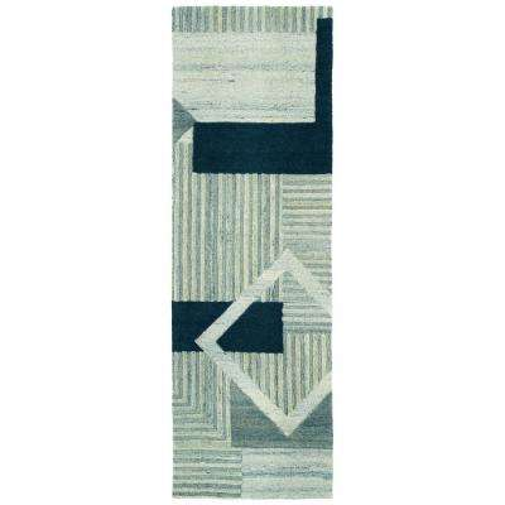 Alzada Blue 2 ft. 6 in. x 8 ft. Runner Rug