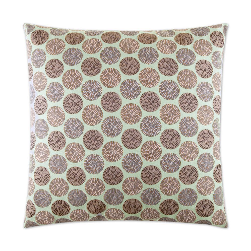 Circadian Seaglass Geometric Down 24 in. x 24 in. Throw Pillow