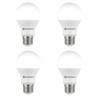 60-Watt Equivalent A19 Non-Dimmable LED Light Bulb Daylight (4-Pack)