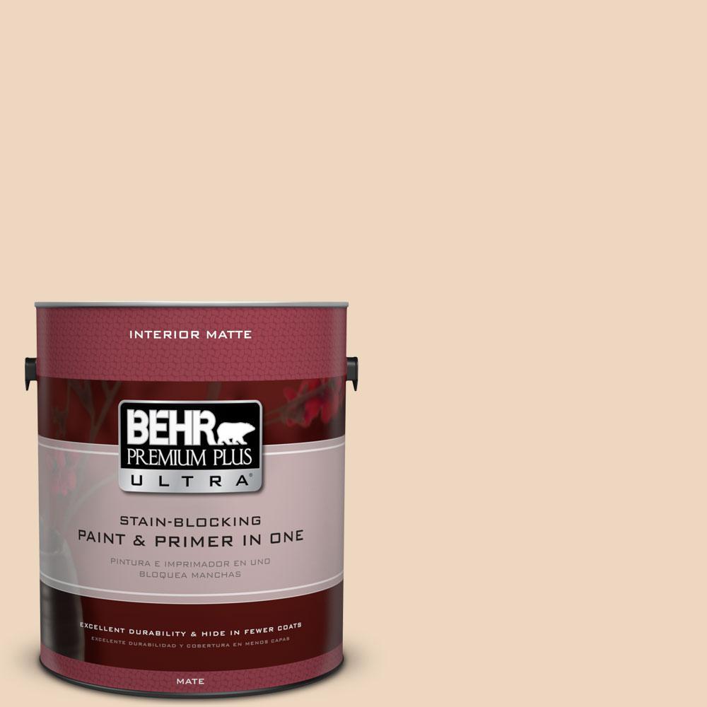 BEHR Premium Plus Ultra 1 gal. #PPU4-10 Porcelain Skin Flat/Matte Interior Paint