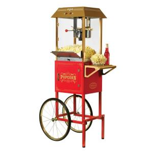Nostalgia 10 oz. Popcorn Machine and Cart by Nostalgia
