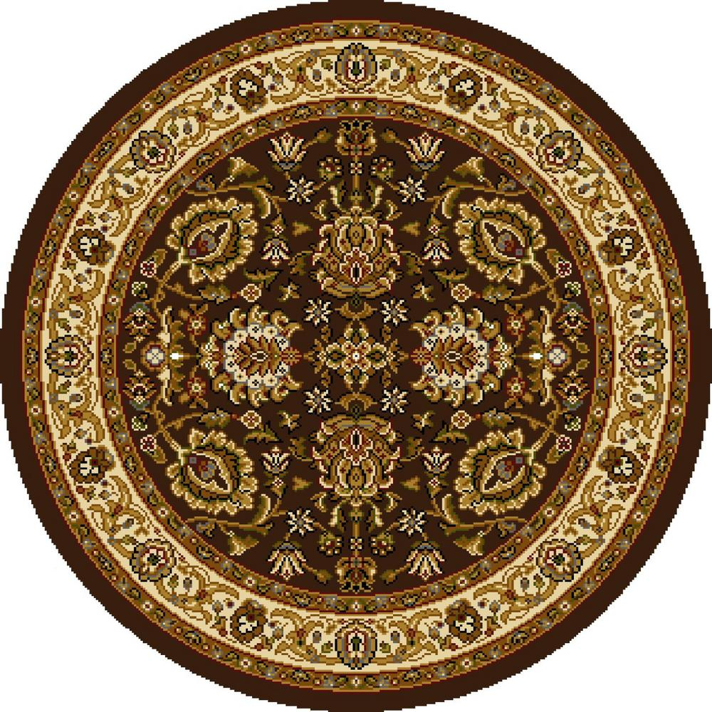 Home Dynamix Royalty Green Ivory 39 Round Indoor Area Rug