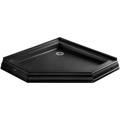 Memoirs 42 in. x 42 in. Single Threshold Shower Base in Black