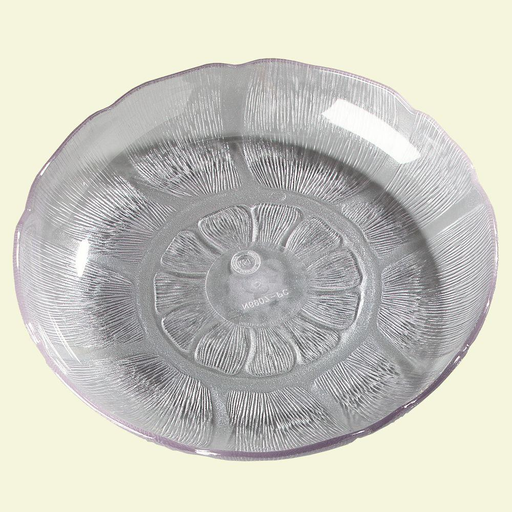 Carlisle 7.94 in. Diameter Patterned Soup and Salad Plate Crystal (Case of 36)