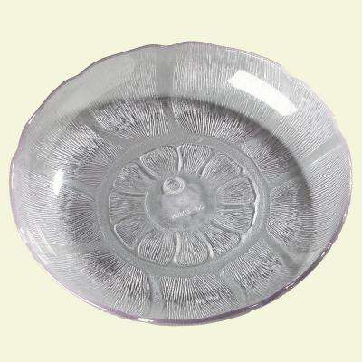 7.94 in. Diameter Patterned Soup and Salad Plate Crystal (Case of 36)