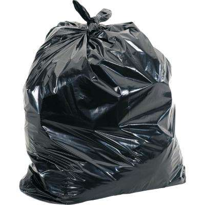 65 Gal. Black Heavy-Duty Trash Liners (100-Count)