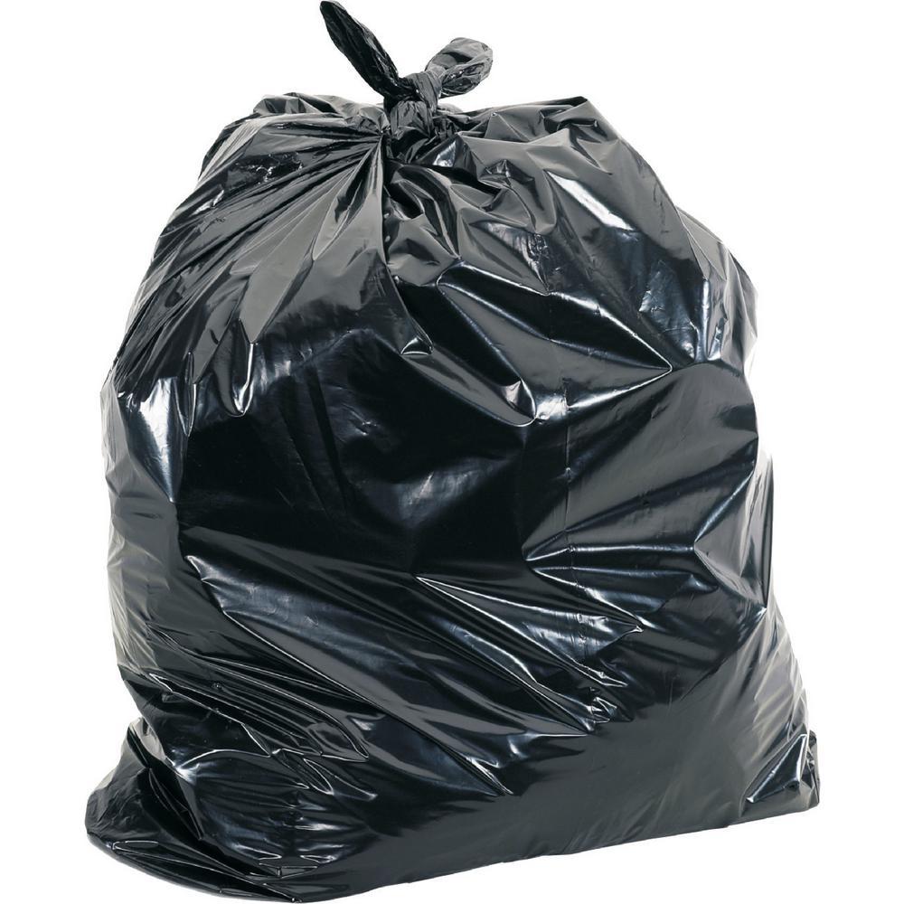 65 Gal. Black Heavy-Duty Trash Liners (100-Count)