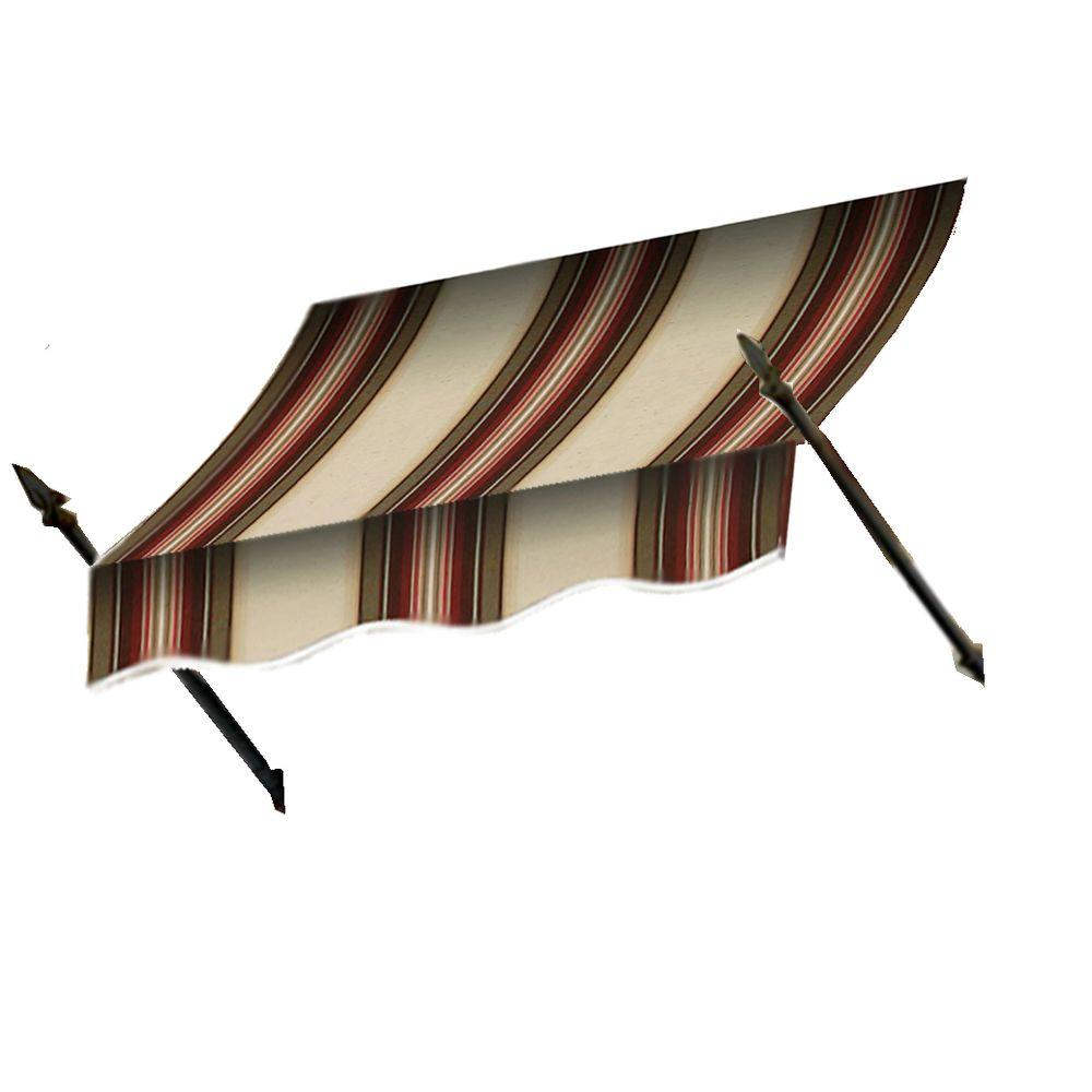 AWNTECH 8 ft. New Orleans Awning (44 in. H x 24 in. D) in Brown/Tan/Terra Cotta Stripe