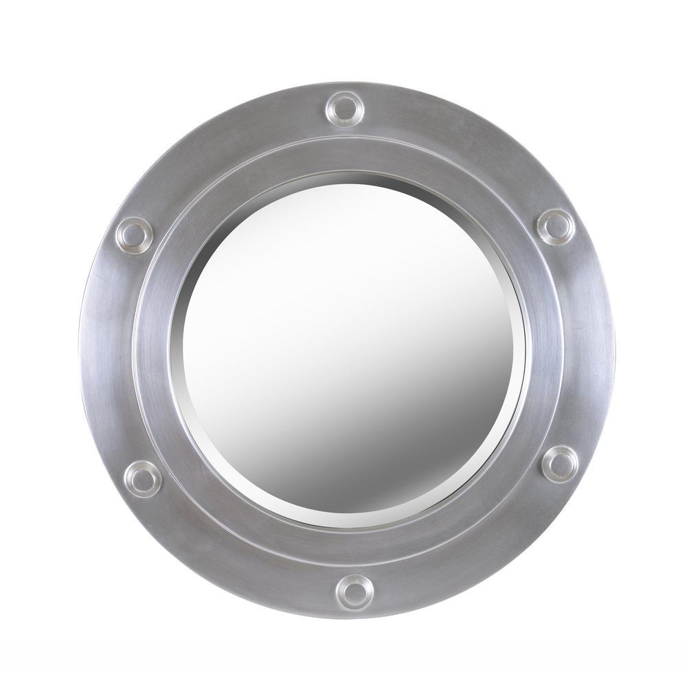 Hansen 24 in. Round Polyurethane Framed Mirror