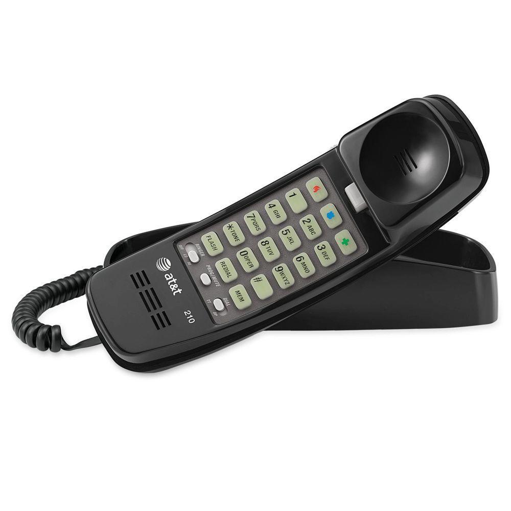 Trimline Telephone With Memory - Black