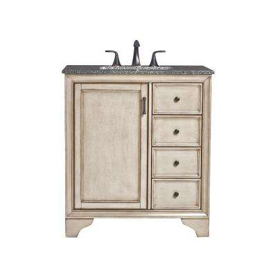 D Bath Vanity in Antique Grey with - Cottage - Bathroom Vanities - Bath - The Home Depot