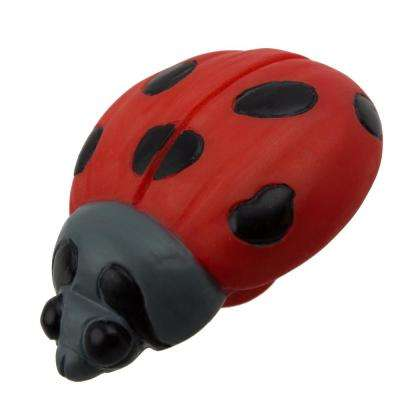 2-1/8 in. Lady Bug Hand-Painted Realistic Cabinet Knob (10-Pack)