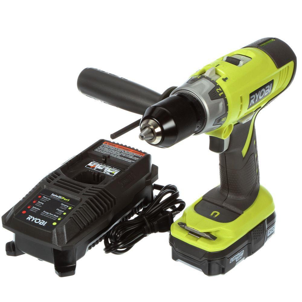 Ryobi 18-Volt One+ Hammer Drill Kit