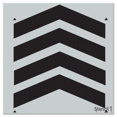 Chevron Full Repeat Pattern Stencil